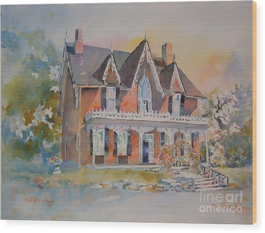 Oak Hill Cottage Wood Print