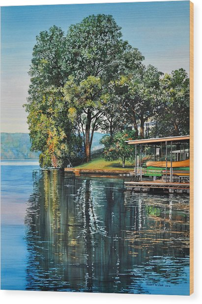 Oak Point Wood Print