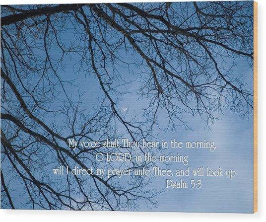 Oak Tree Psalm Wood Print