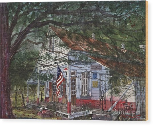 Oakland Plantation Store Wood Print