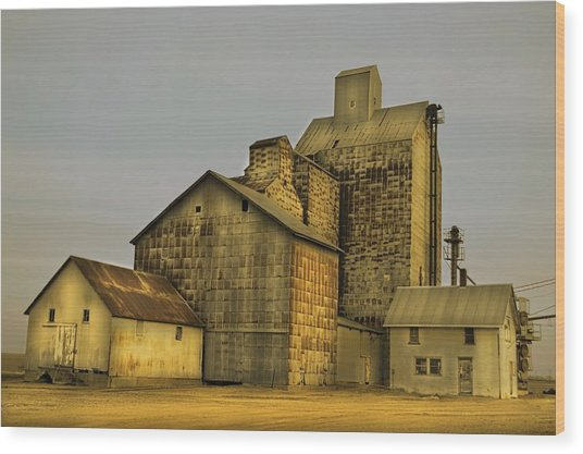 Oakwood Elevator Wood Print