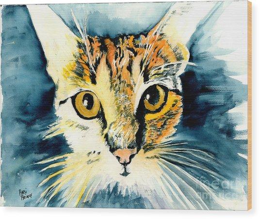 Oatmeal The Cat Wood Print