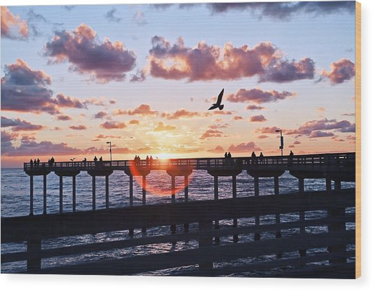 Wood Print featuring the photograph Ob Pier  by Gigi Ebert