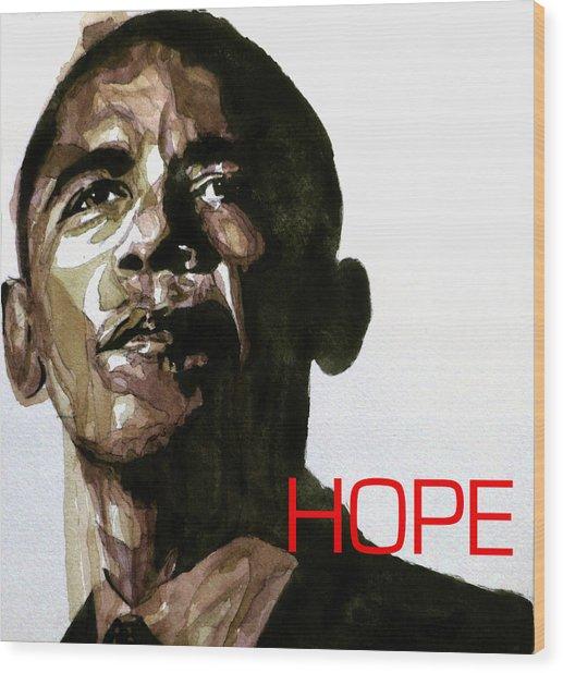 Obama Hope Wood Print