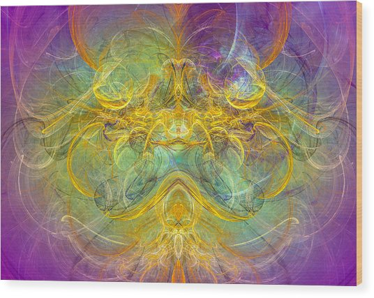Obeisance To Nature - Spiritual Abstract Art Wood Print