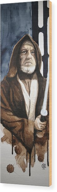 Obi Wan Kenobi Wood Print