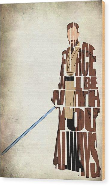 Obi-wan Kenobi - Ewan Mcgregor Wood Print