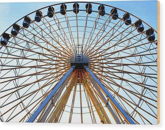 Observation Wheel Wood Print