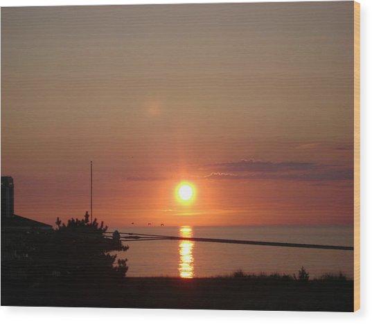 Obx Sunset Wood Print