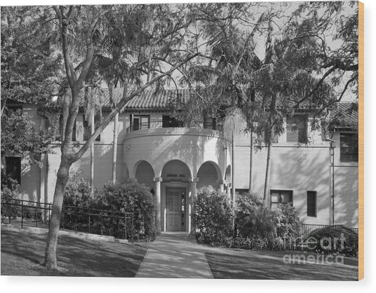 Occidental College Erdman Hall Wood Print by University Icons