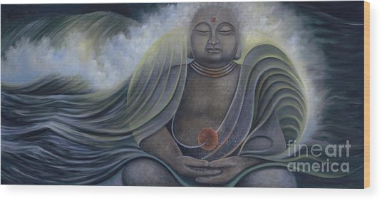 Ocean Buddha Wood Print