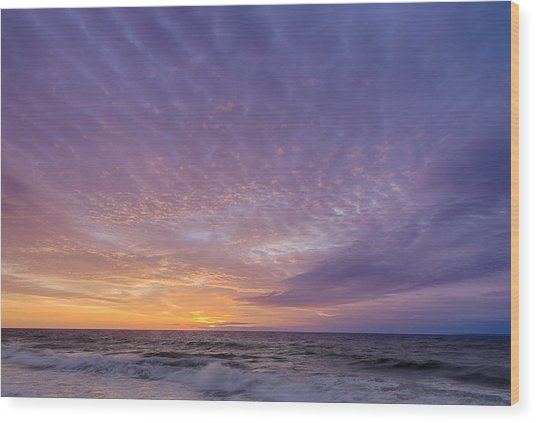 Ocean City Maryland Sunrise Hdr Wood Print