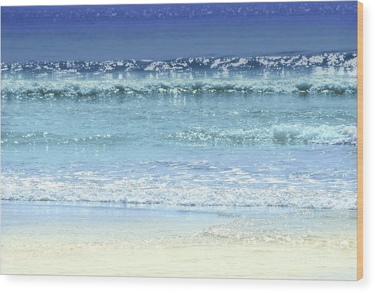 Ocean Colors Abstract Wood Print