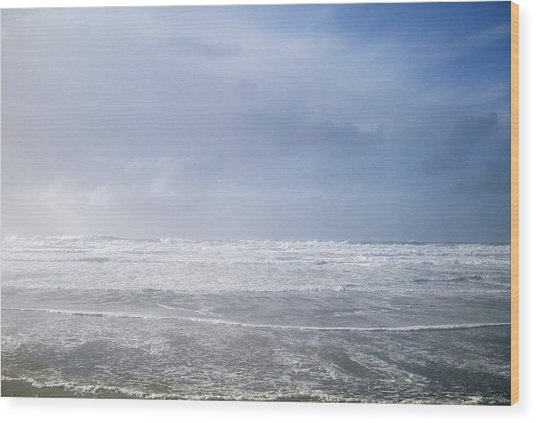 Ocean Foam Wood Print