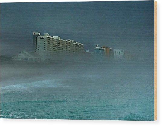Ocean Fog Wood Print