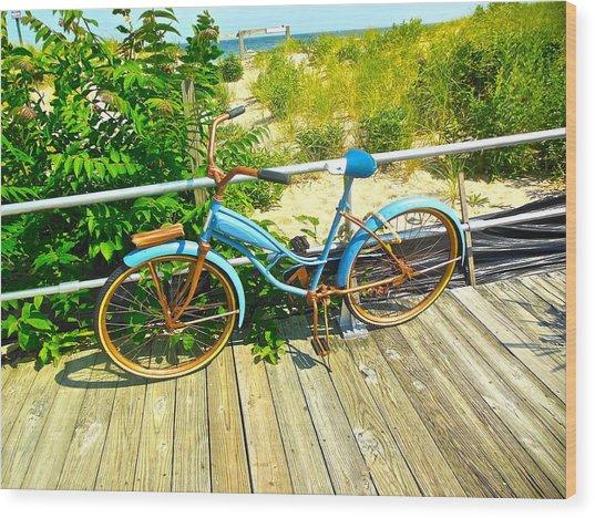 Ocean Grove Bike Wood Print
