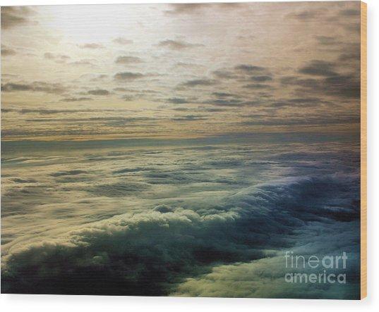 Ocean In The Sky Wood Print