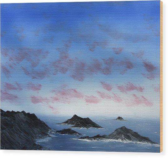 Ocean Islands Wood Print