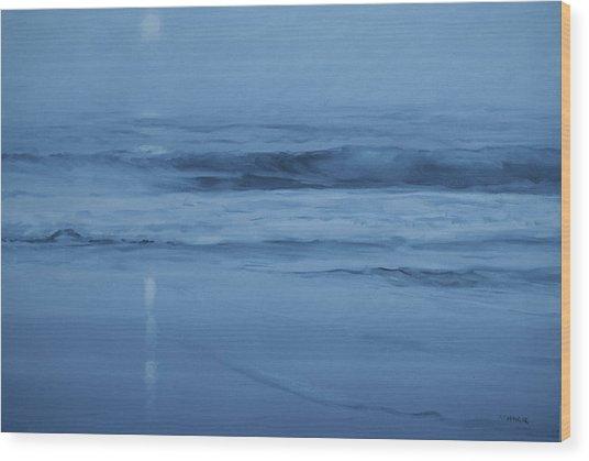 Ocean Nocturne Wood Print