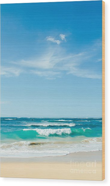 Wood Print featuring the photograph Ocean Of Joy by Sharon Mau