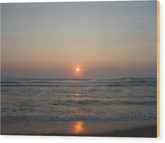 Ocean Sunrise Wood Print by Deborah May