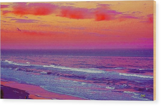 Ocean Sunset 1 Wood Print