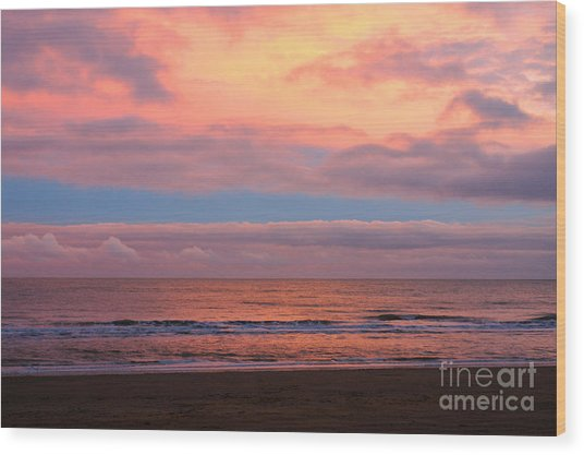 Wood Print featuring the photograph Ocean Sunset by Jeremy Hayden