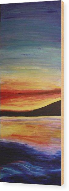Ocean Sunset Wood Print by Bex Schoof