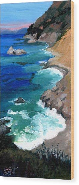 Ocean View At Big Sur Wood Print