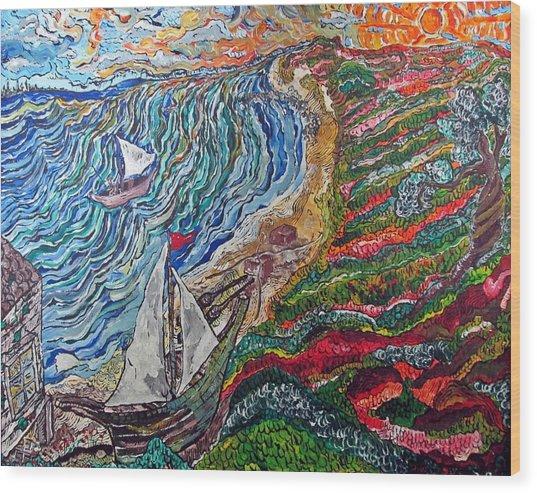 Ocean View Wood Print by Matthew  James
