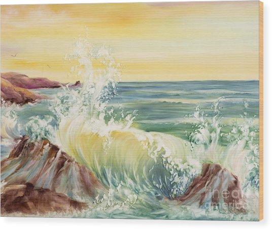 Ocean Waves II Wood Print by Summer Celeste