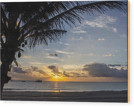 Oceanfront Park Sunrise 1 Wood Print