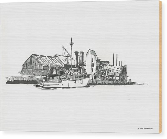 Oceanport Fish Factory Wood Print