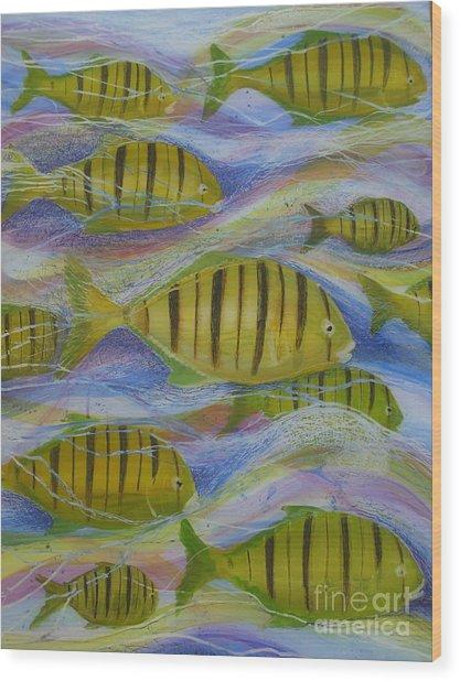 Ocean's Tide Wood Print