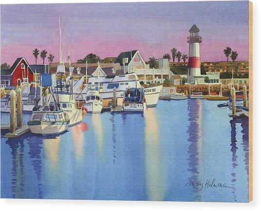 Oceanside Harbor At Dusk Wood Print