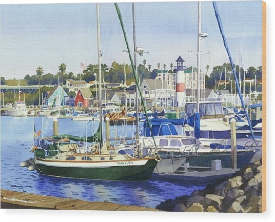 Oceanside Harbor Wood Print