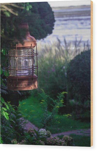 Oceanside Lantern Wood Print