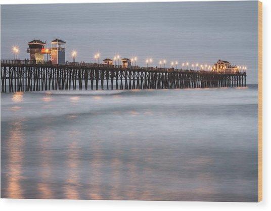 Oceanside Pier 1 Wood Print