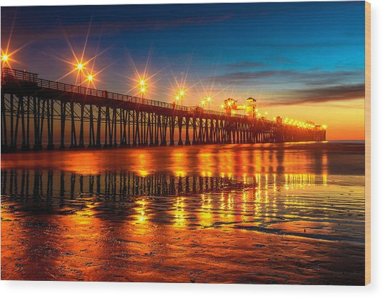 Oceanside Pier 2 Wood Print