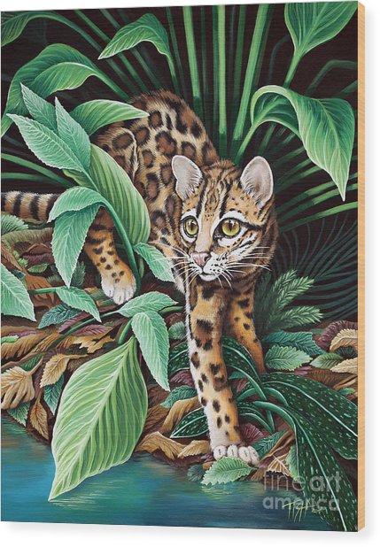 Ocelot Wood Print