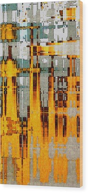 Ochre Urbanity Wood Print