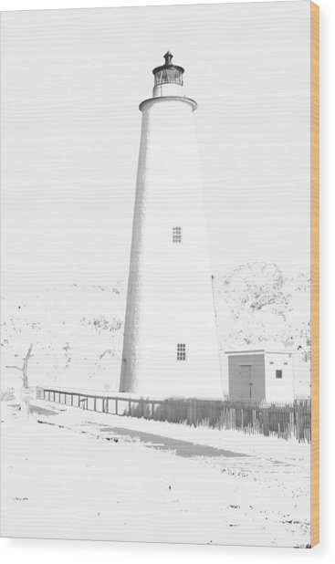 Ocracoke Lighthouse Wood Print