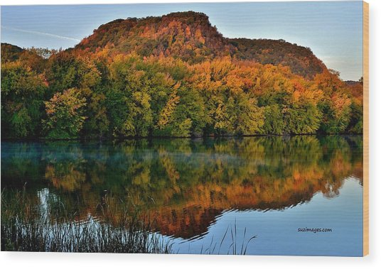 October Bluffs Wood Print