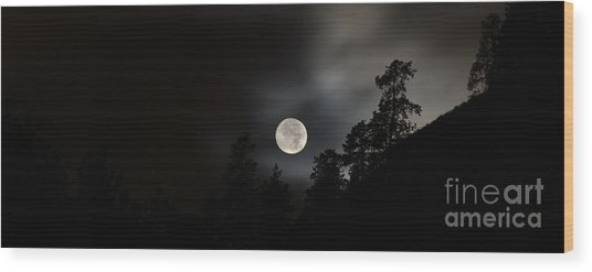 October Full Moon II Wood Print by Phil Dionne