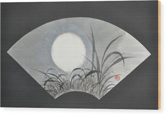 October Moonviewing Wood Print