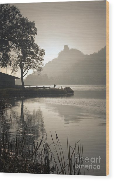 Wood Print featuring the photograph October Morning by Kari Yearous
