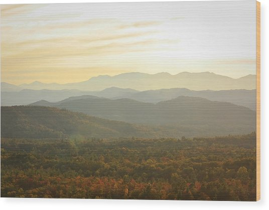 October Mountains Wood Print