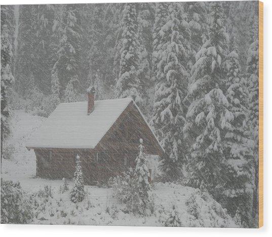 October Snowfall  --  British Columbia  Wood Print