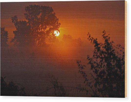 October Sunrise Wood Print