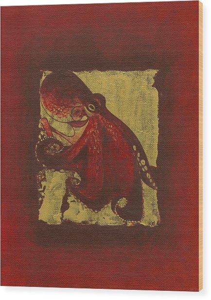 Octopus Wood Print